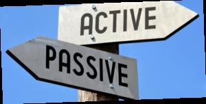 active v passive sign